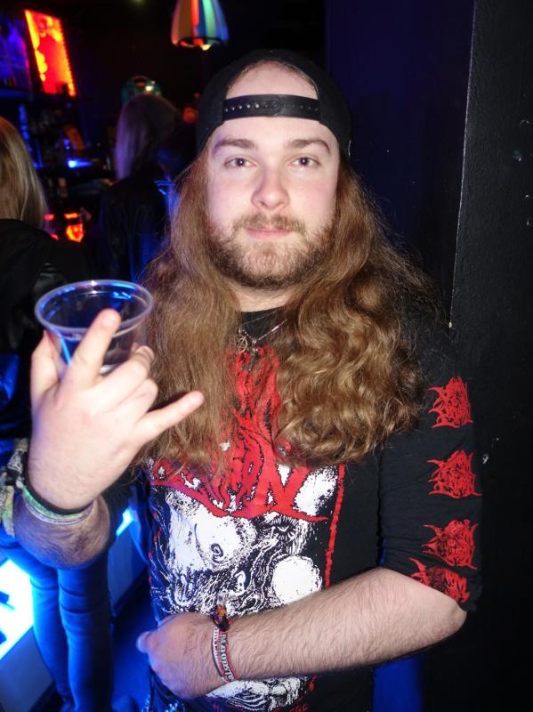 Heavy metal fan, The Lounge, London 2017