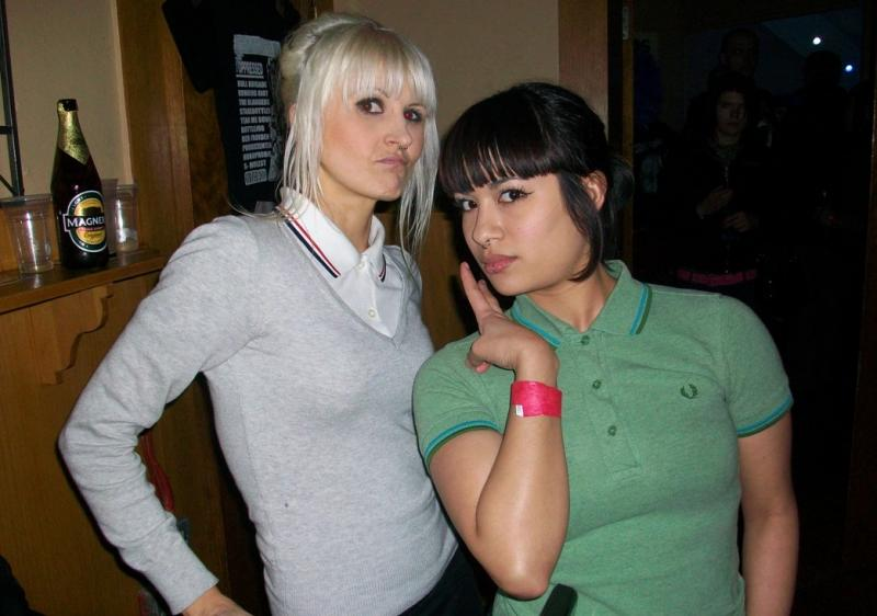 Skin Girls at Anti-fascist benefit gig, the Kentish Town Dome, London, June 2009