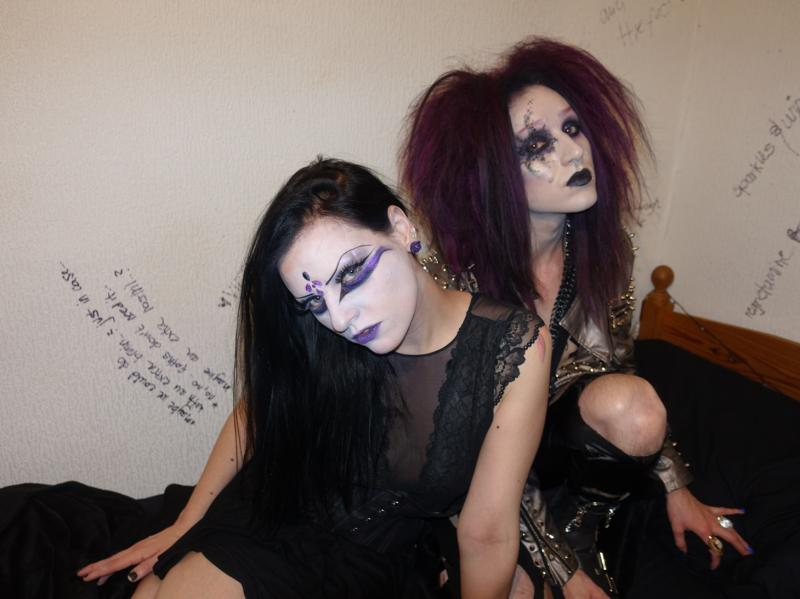 Victoria and Lucius, Goth couple, London, 2017