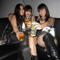 Crust Punk and Black Metal girls, Night Creatures, LA, 2014