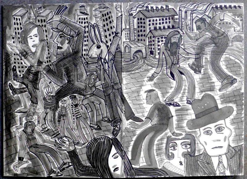 from Mark Wigan's sketchbook