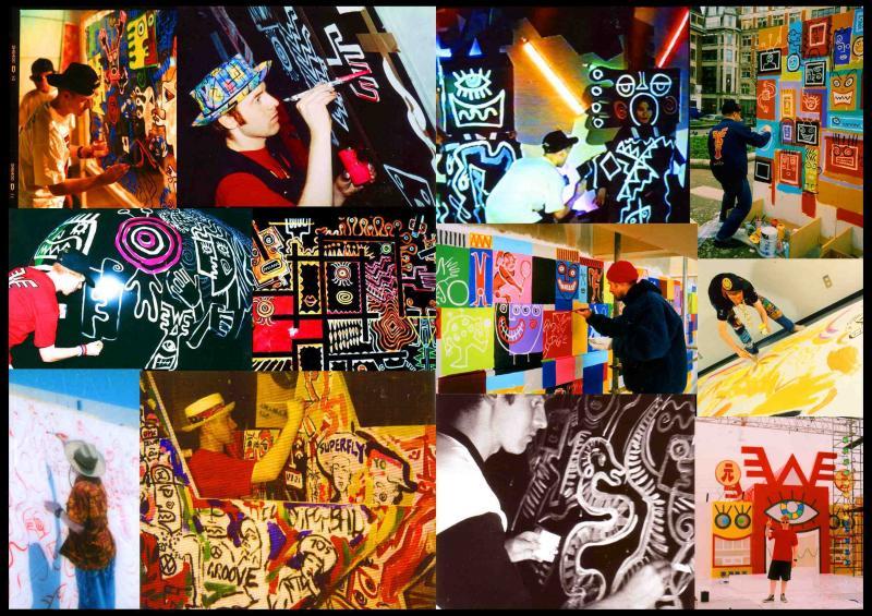 'Total Art' collage, Mark Wigan
