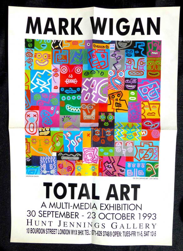 Poster for 'Total Art' exhibition, 1993
