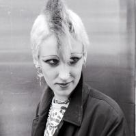 Punk girl, King's Rd, London, 80s ST#387