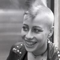 Punk girl, King's Rd, London, 80s ST#391