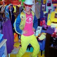 Customer in Kensington Market type store in Sapporo, Japan, 2000