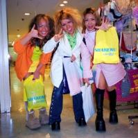 Gonguro ('Dark Face') girls, Sapporo, Japan, 2000