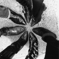 Pointy Goth Shoes, Whitby, England, 1993 [e1660#8]