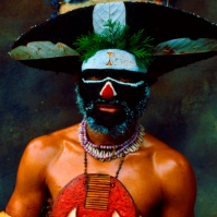 New Guinea Tribesman, London, late 80s (?) BA#44