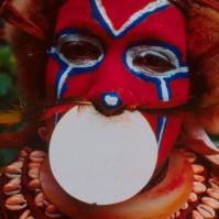 Mt Hagen, New Guinea body painting and lip disc BA#47