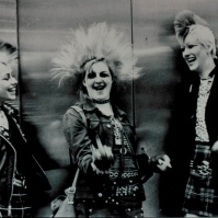 3 Punk girls, King's Rd, early 80s ST#16