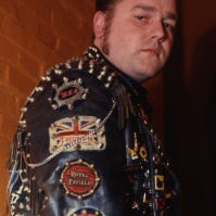 Rocker at the 59 Club, Hackney, London, 1993 ST#82