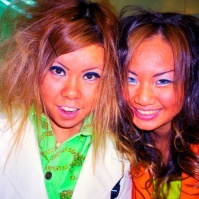 Ganguro ('Dark Face') girls, Sapporo, Japan, 2000