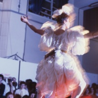 Zandra Rhodes fashion show , early 80s FA#14