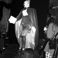 Leigh Bowery presenting fashion show FA#08