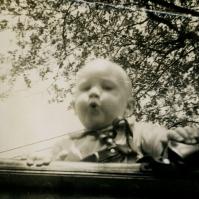 me (Ted Polhemus) in pram, 1948? - TP#127
