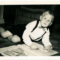 Posh boy - pretend, Ted 1948/9 - TP#140