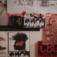 posters in one of the Punk (or punk-ish) clothing shops on or near St Mark's Place, New York City, USA, 1981 [photo © Ted Polhemus]