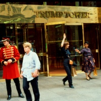 The newly opened Trump Tower, 725 Fifth Avenue, New York City, USA, photo 1984 [photo © Ted Polhemus]
