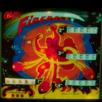Bally's (excellent) 'Fireball' pinball machine in Palace Amusements', Asbury Park, New Jersey, USA, early 1980s [photo © Ted Polhemus]
