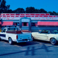 traditional American diner, New Jersey, USA, photo early 1980s [photo © Ted Polhemus]
