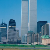 World Trade Center ('Twin Towers'), photo: 1984, [photo © Ted Polhemus]